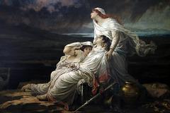 """ Herculanum , 23 août , an 79 "" - Huile sur toile de Hector Leroux"