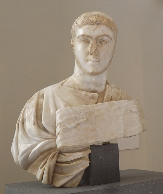 Marble Portrait Bust of Severus Alexander in the Metropolitan Museum of Art, May 2015