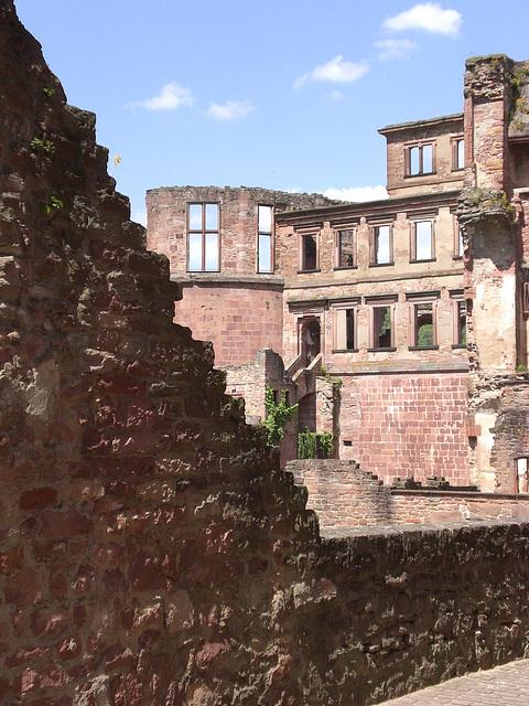Ruinenfassade Schloss Heidelberg