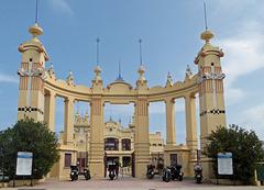 The very ornate Mondello pier Sicily