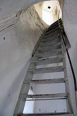 Staircase inside Lista lighthouse