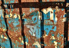 Rusty Skip....And Shadowed Fence