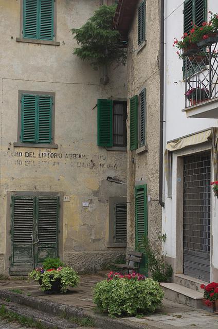 A street corner in Gavinana, Tuscany