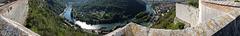 BESANCON: La Citadelle: Panoramique depuis la citadelle ( coté ouest )