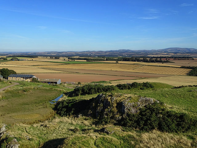 View of the Scottish borders from Smailholm Tower.