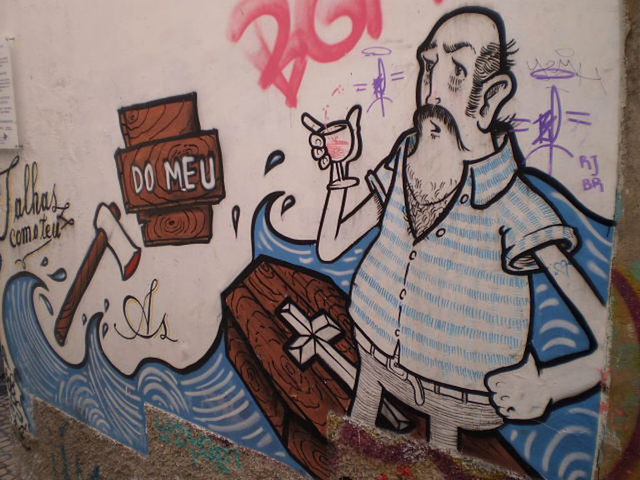 Street art at Alfama, Lisbon.