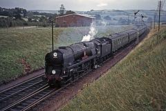 34005 'Barnstaple' near Seaton Junction