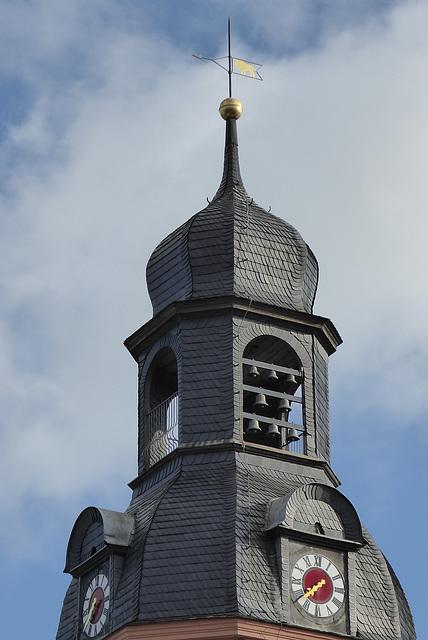 Im Turm des Schleizer Rathauses befindet sich ein Glockenspiel
