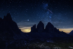 "H.A.N.W.E. - with ""Tre Cime at Night"""
