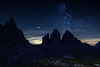 """H.A.N.W.E. - with """"Tre Cime at Night"""""""