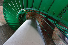 134 Stufen bis oben … im Darsser Leuchtturm  (© Buelipix)