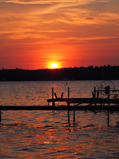 Pigeon Lake Sunset