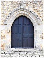 (Eglise paroissiale Saint-Jean (Saint-Maden) ( 22)- Elévation ouest, portail)