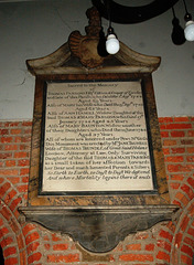 Thomas and Mary Parsons Memorial, Nave of St Mary's Old Church, Stoke Newington, Hackney, London