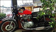 The 1973 Triumph Bonneville.