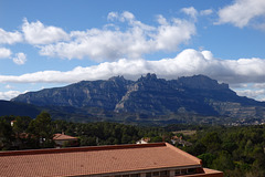 El massís de Montserrat, des de Vacarisses