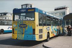 Jersey bus 12 (J 75153) in St. Helier - 4 Sep 1999