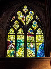 Metz, La cathédrale Saint-Étienne, un vitrail de Marc Chagall