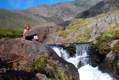 The ascent of Snowdon - Having a rest!