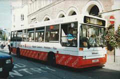 Jersey bus 11 (J 13853) in St. Helier - 4 Sep 1999