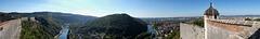 BESANCON: La Citadelle: Panoramique depuis la citadelle ( coté ouest ). 02