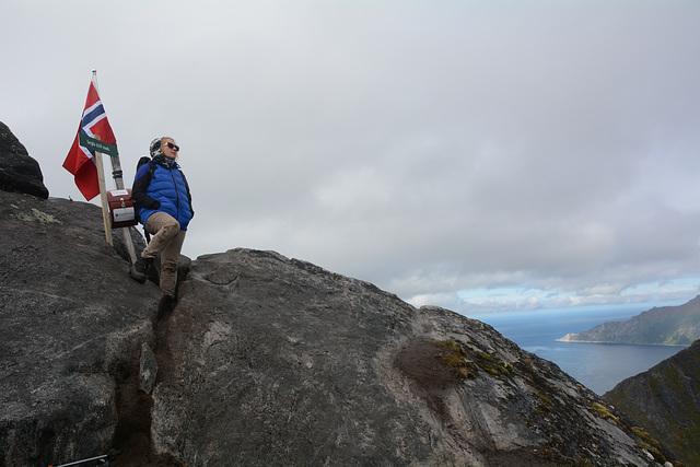 Norway, The Island of Senja, On the Top of Segla (639m)