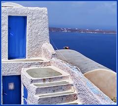 Due porte in paradiso -  Oia Santorini (433)