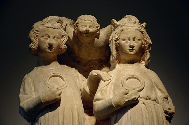 """""""Ste Cécile et St Valérien couronnés par un ange"""" (début 14e s.)"""