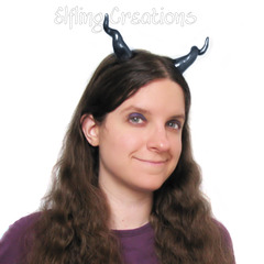 Black Dragon Costume Horns