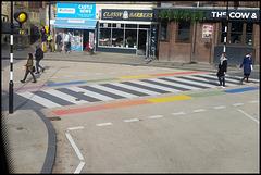 beware of rainbow crossing