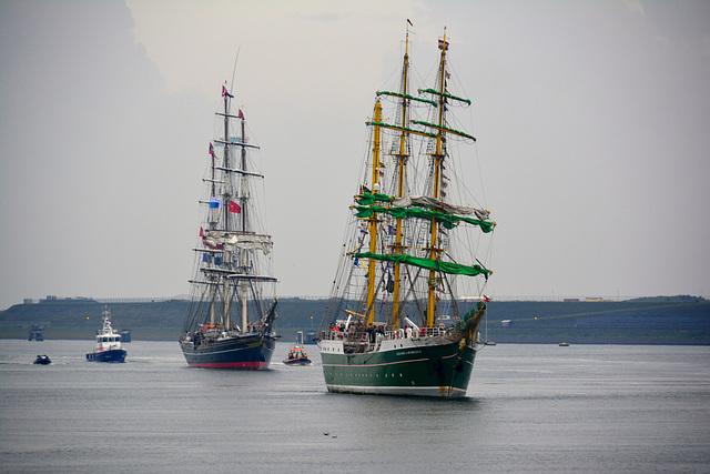 Sail 2015 – Alexander von Humboldt II followed by the Stad Amsterdam