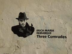Stencil of Erich Maria Remarque.