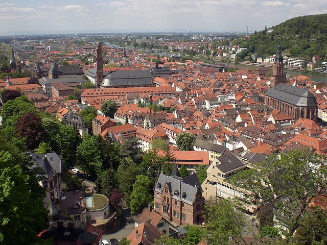 Blick in die Heidelberger Altstadt