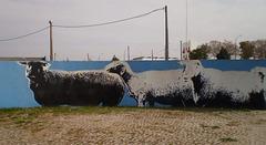 Sheep mural (II).
