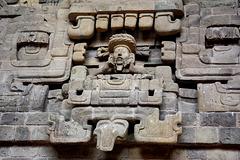 Honduras, Mayan Wall Sculptures in Copan Ruinas Museum