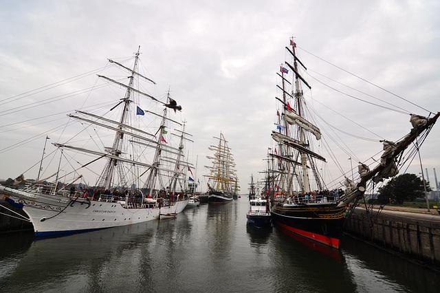 Sail 2015 – Tall ships in the lock at IJmuiden