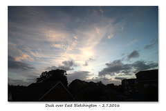 Dusk over East Blatchington - 2.7.2016