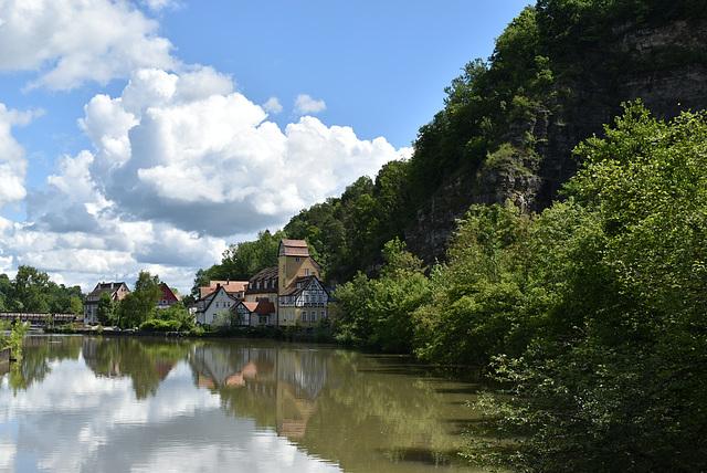 Blick zur ehemaligen Mühle