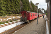 Ausfahrender Zug der HSB in Schierke
