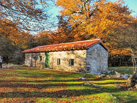 Cabaña de pastores en Urbasa. Navarra.