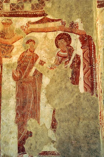 Apôtres - Fresques (XIIe s.) de l'église d'Areines