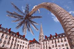Nantes, l'art est dans la ville, la place Royale et son île.