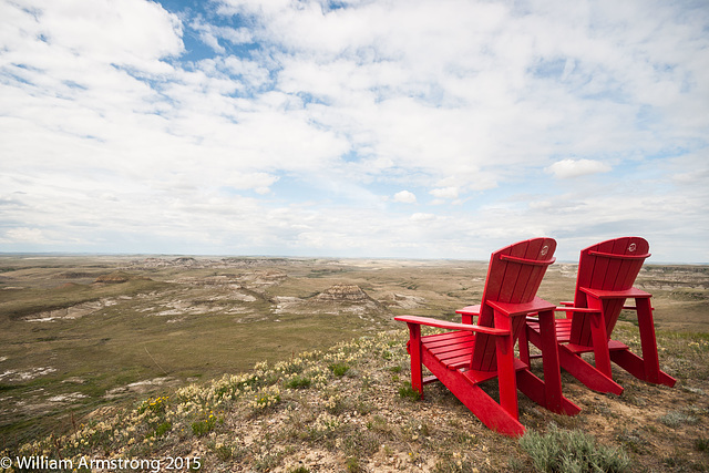 view from the red chair