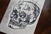 Linocut skull