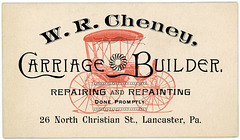 W. R. Cheney, Carriage Builder, Lancaster, Pa.
