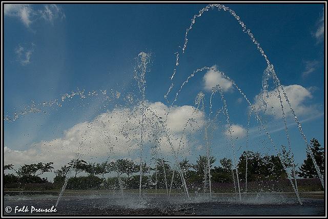 Wasserspiele im  Bürgerpark
