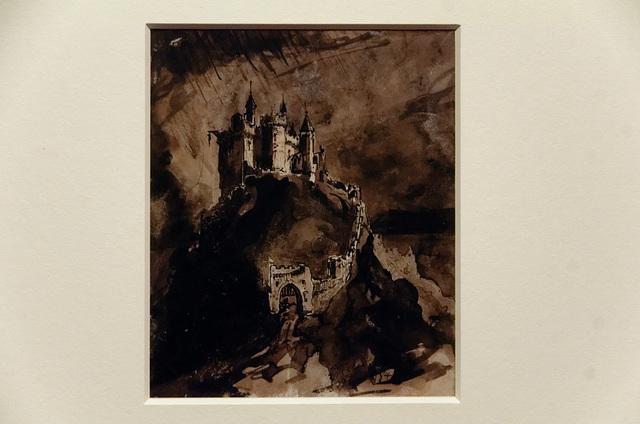 """""""Château fort sur une colline"""" (Victor Hugo - vers 1847)"""