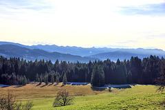 Scheidegg/Allgäu - Blick auf die Berge des Bregenzerwalds.
