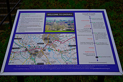 Shropshire Union Canal tow path information board