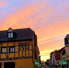 Coucher de soleil à Colmar / Sunset in Colmar